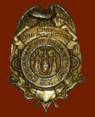 Chief Railroad Fire Inspector Badge worn from 1926 to 1947 - A Paul Hartmann Photo