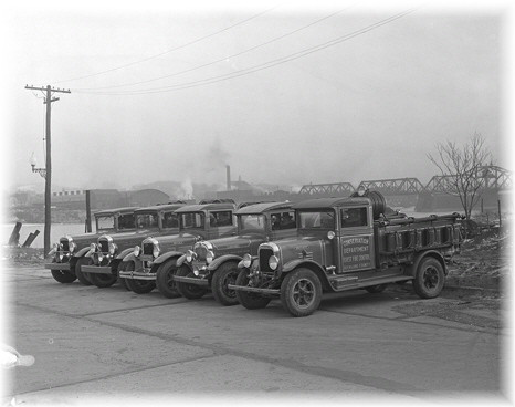 1932 - Forest Ranger  trucks On display at Albany.